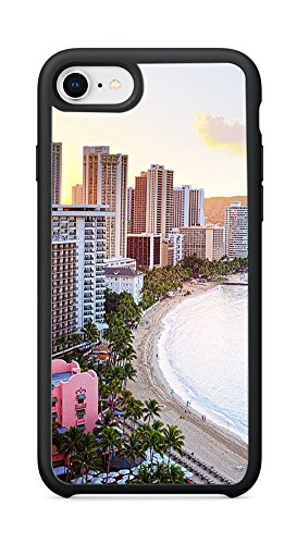 VUTTOO Case for Apple iPhone 8 4.7inch (Not Fit Plus) - Waikiki Beach Hawaii Case - Shock Absorption Protection Phone Cover (Waikiki Halloween)