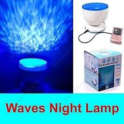 Ocean Daren Waves Night Light Projector Speaker Lamp