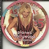 $5 planet hollywood britney spears las vegas nevada casino chip