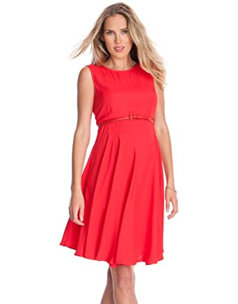 c3be017ae6 Seraphine Evie Sleeveless Woven A Line Maternity Dress at Amazon Women s  Clothing store