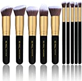 Image of BS-MALL(TM) Makeup Brushes Premium Makeup Brush Set Synthetic Kabuki Cosmetics Foundation Blending Blush Eyeliner Face Powder Brush Makeup Brush Kit (10pcs, Golden Black)