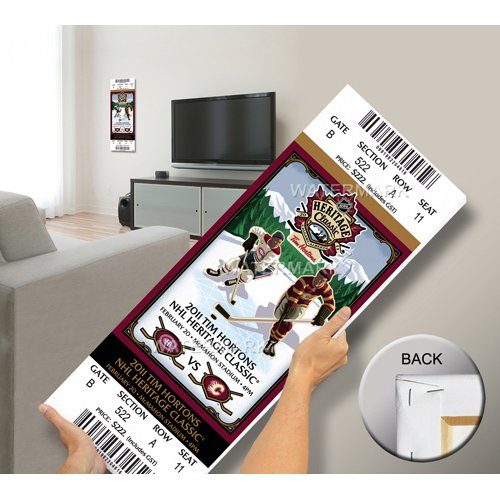 Montreal Canadiens Tickets (2011 NHL Heritage Classic Mega Ticket - Canadiens vs Flames)