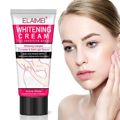 Whitening Cream,Underarm Lightening Cream for Body, Armpit, Knees, Elbows, Private Parts, Skin Lightening & Nourishing, Natural Skin Care, 60ml (Best Armpit Whitening Cream)