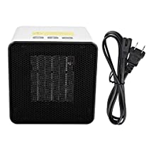 400w/800w Mini Adjustable Thermostat Heater Overheat Protection Portable Office Home Air Warmer Fan Heating Machine(US Plug)