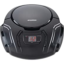 SYLVANIA SRCD261-B-BLACK Portable CD Players with AM/FM Radio (Black)