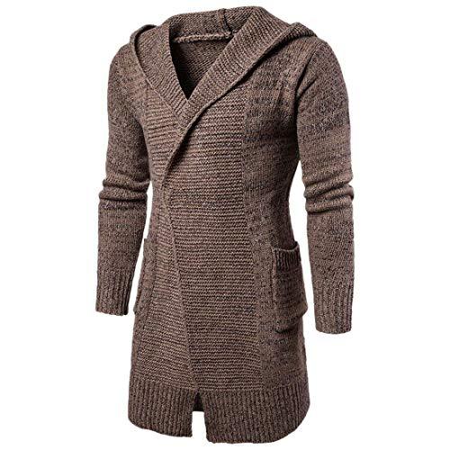 Vêtements Tricot Hommes Cardigan Confortables Tailles À Survêtement Poches Section Pull Manteau Longue Mode Braun Capuche Hx panWwRqOC
