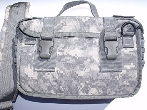 NEW US Army Military Tactical MOLLE II ACU Digital Camo Camouflage Ammo Game Carrier Saw Shoulder Messanger 300 ROUND AMMUNITION 7.62 mm BAG Case Carrier Pounch Sling US Goverment (Special Tactical Digital Camo Handle)