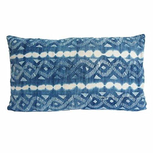Vintage African Indigo Mudcloth Lumbar Pillow| Sailing II