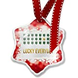 Christmas Ornament Lucky Everyday St. Patrick's Day Gold Shamrock, red - Neonblond