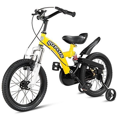 Goplus 16インチ キッズ バイク アウトドア スポーツ カラフル 自転車 トレーニングホイール付き ハンドブレーキ リアブレーキ 男の子 女の子 バイク 子供用   B07FNFNG6K