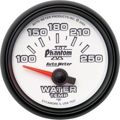 A48753747270-7537 - Autometer 7537 Water Temperature Gauge - Electric Air-Core, Universal (Metric Water Temperature Gauge)