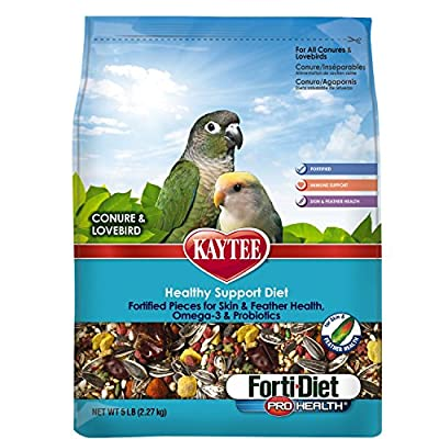 Kaytee Forti Diet Pro Health Bird Food for Conures and Lovebirds