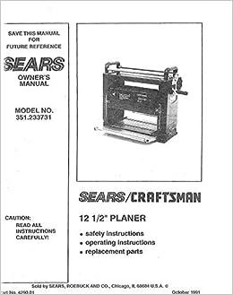 craftsman planer manual