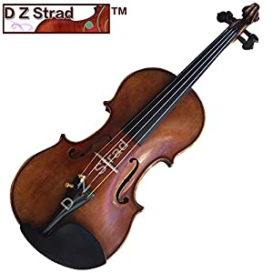 D Z Strad Violin Model 100 with Solid Wood 3/4 with Case, Bow, and Rosin (3/4 – Size) 51FohKFcSOL