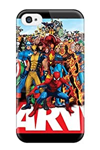 Tough Iphone Xdfpdvh7674Dngit Case Cover/ Case For Iphone 4/4s(marvel)
