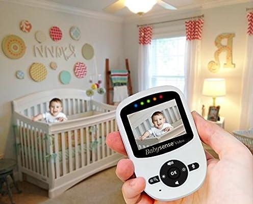 New Model - Babysense Video & Baby Movement Monitor - Bundle Pack - Babysense Video Baby Monitor V24 with Babysense 7 Under-The-Mattress Baby Movement Monitor - 2 in 1