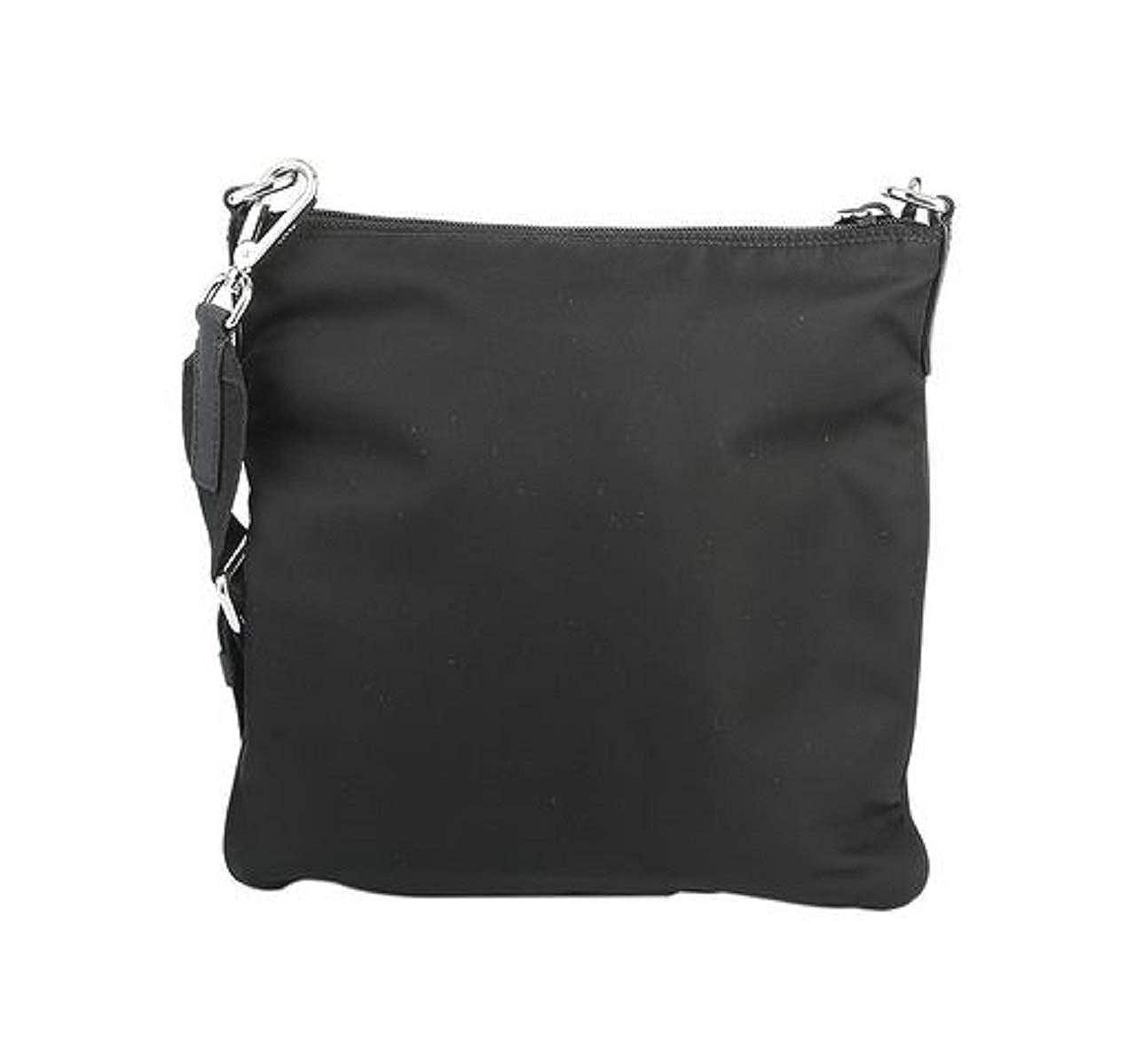 07b3a18d813 Prada Black Tessuto Nylon Messenger Crossbody Handbag 1BH716