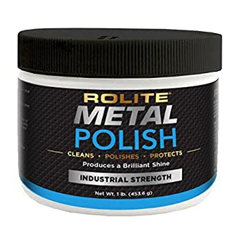 Rolite Metal Polish Paste (1lb) for Aluminum, Brass, Bronze, Chrome, Copper, Gold, Nickel and Stainless Steel