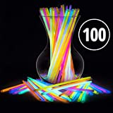 Glow Sticks Bulk Party Favors 100pk - 8' Glow in The Dark Party Supplies, Light Sticks for Neon Party Glow Necklaces and Bracelets for...