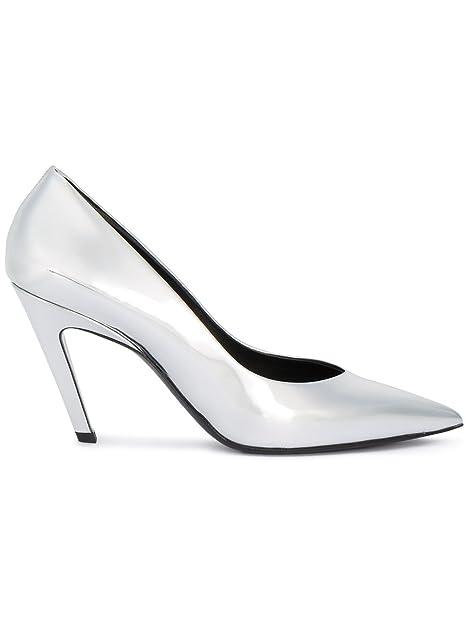 144135215c4e Balenciaga Women s 477210Wa0v08106 Silver Leather Pumps  Amazon.ca ...