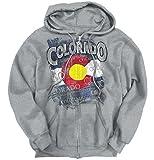 Classic Teaze Colorado Flag Mountain State Country America Hometown USA Zip Hoodie