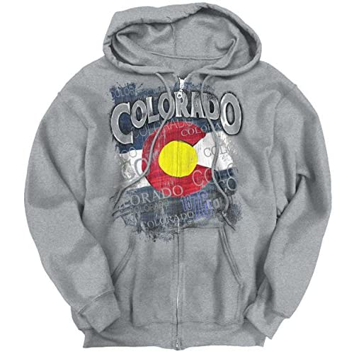 2b272ffbc2 Classic Teaze Colorado Flag Mountain State Country America Hometown Nation  Zipper Hoodie 70%OFF