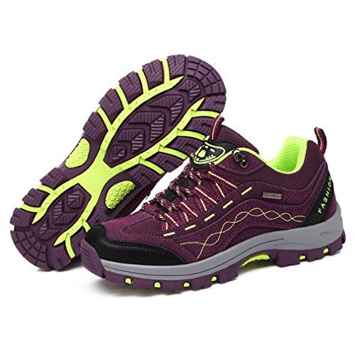 Unisex caño botas de XIGUAFR adulto bajo morado R0IwEEq