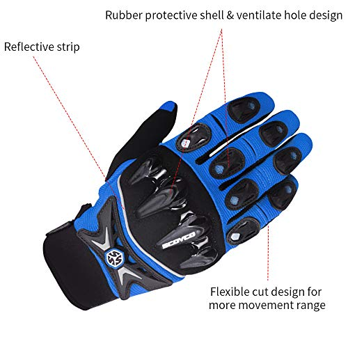 SCOYCO Motorcycle Riding Gloves Men,Knight Anti-collision Racing Locomotive Racing Wear-resistant Joint protection Gloves