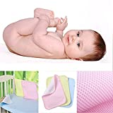 Baby Cot Bed with Changer CdyBox Kid Baby Bamboo Fiber Waterproof Diaper Changing Pad in Vibrant Color for Home and Travel S M L (M, Blue)