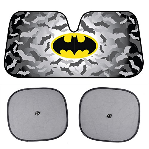 BDK Warner Bros® Batman Sunshade - Folding Accordion with Anti Glare Sun Shade (Batman Car Shade compare prices)