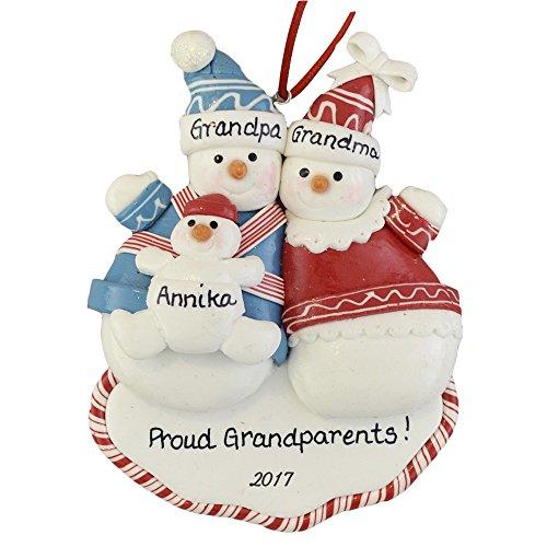 Personalized Proud Grandparents 2017 Ornament