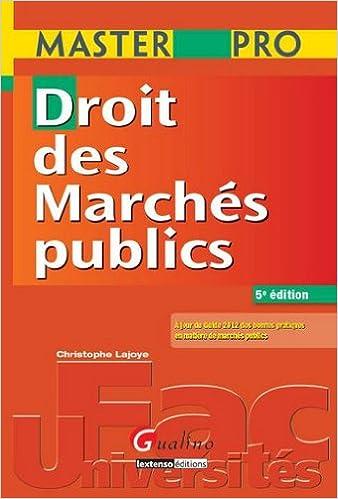 Droit des Marchés publics epub, pdf