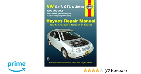 Vw golf gti jetta 99 thru 05 automotive repair manual all 4 vw golf gti jetta 99 thru 05 automotive repair manual all 4 cylinder gas engines tdi diesel engine 1999 2004 jay storer john h haynes fandeluxe Choice Image
