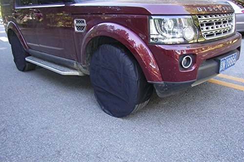 4XBlack Oxford Cloth Fabric Car Pickup Wheel Tire Protection Bag Cover Raincover by Generic (Image #3)