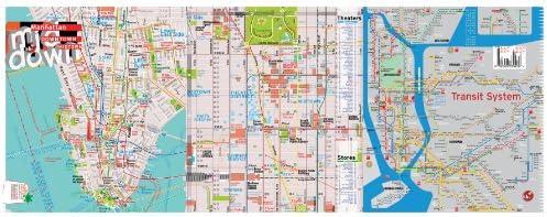 Nyc Subway Map Ebay.Terramaps Nyc Manhattan Street And Subway Map Waterproof Ar