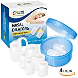 Anti-Snoring Solution Snore Stopper Devices - 4 Sizes Nose Vents for Healthy Sleep - Intra-Nasal Dilators for Breathing Aid - Multi-Symptom Relief for Cold, Allergy, Pregnancy, Air Travel Congestion