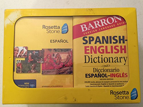 Rosetta Stone Espanol/Barron's Bundle - Spanish - English Dictionary, Earbuds, Levels 1-5