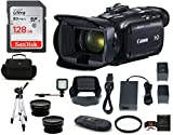 Canon VIXIA HF G21 Full HD Camcorder Bundle, Includes: 128GB SDXC Memory Card, LED Light, Spare Battery, 58mm Telephoto & Wide Angle Lenses, Camcorder Bag and more...