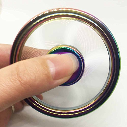 NUOFENG New Design Steering Wheel Rainbow Hand Fidget Spinner Fingertip Gyro EDC Focus Boredom Anxiety Stress Relief Toys