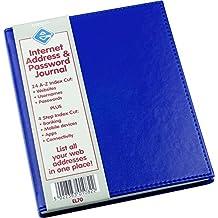Internet Address & Password Journal Blue
