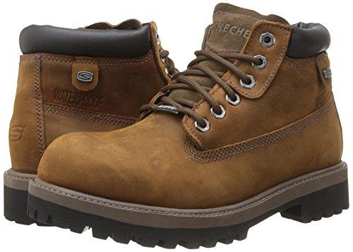 skechers boots mens brown