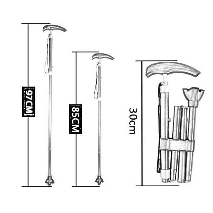 Crutch Mulujin - Bastón de bastón Ajustable de Aluminio, retráctil ...
