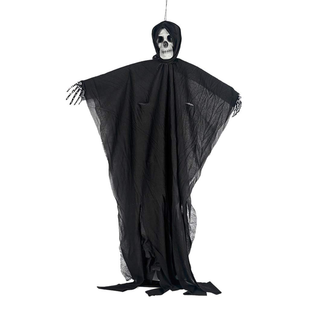 Tinaa Fant/ôme Suspendu Squelette du Cr/âne-Accessoires Terroristes-Maison Hant/ée D/écoration dhorreur dhalloween