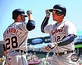 "J.D. Martinez & Miguel Cabrera Detroit Tigers 2015 MLB Action Photo (Size: 8"" x 10"")"