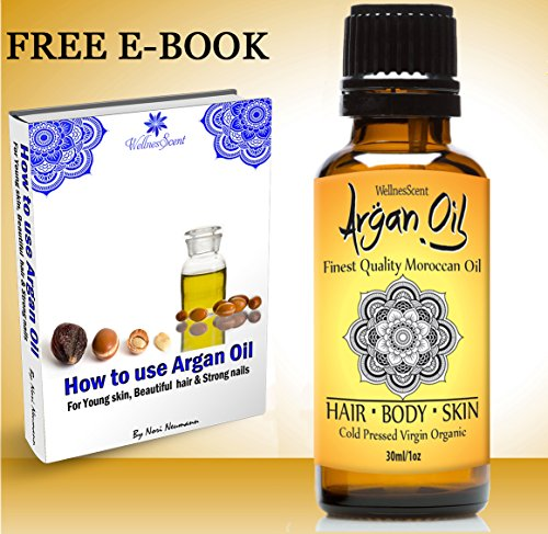 Argan Oil Organic. 100% Natural Pure Undiluted Cold Pressed Moroccan Oil, Pure Argan Oil Shampoo and Conditioner for Hair Care; Detangler, Frizz Control, Healthy Shine, Hair Mask, Dry Scalp, Dandruff Hair Growth Lotion great for Men and Women Treatment fo