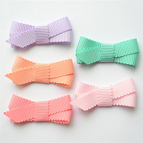 Ruyaa Tiny Hair Bows Fully Lined Hair Clips for Baby Fine Hair Infants Toddlers (A) by Ruyaa (Image #4)