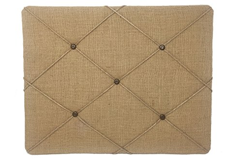 "(ReLIVE 19.75"" x 15.75 Natural Tan Burlap Covered with Criss-Cross Twine Bulletin Picture)"