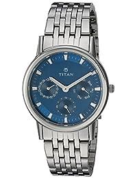 Titan Women's 'Neo' Quartz Metal and Brass Casual Watch, Color:Silver-Toned (Model: 2557SM03)