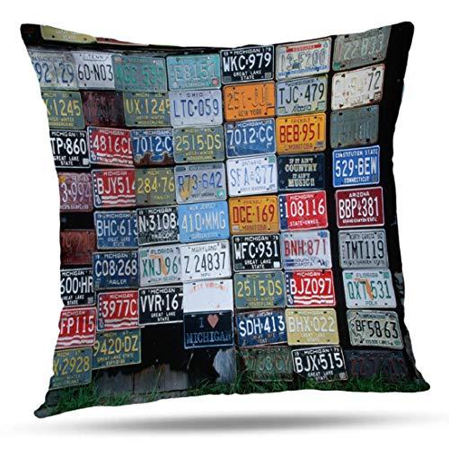 Kutita Americana Decorative Pillow Covers, Vanity Americana Car America Art Collection Color Culture Folk Human Throw Pillow Decor Bedroom Livingroom Sofa 18X18 inch ()