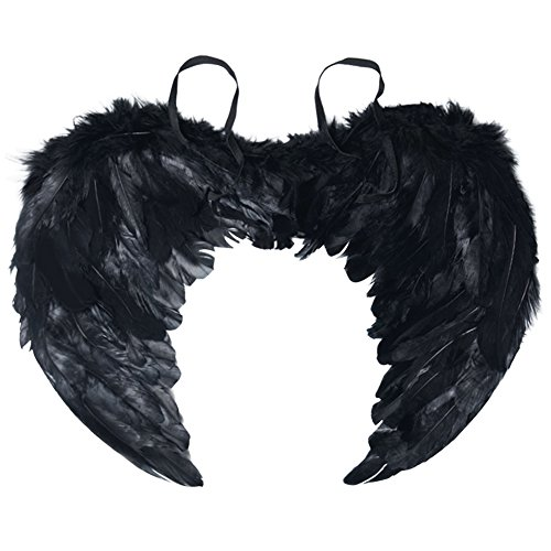 Angel Wing Feather Halloween Costume Party, Cosplay Christmas Wings for Kids Children, Black (Dark Fairy Wings Halloween)